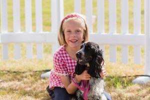Spaniel and girl